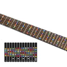 Shock-Resistant And Antimagnetic Office & School Supplies Fashion Style Guitar Neck Fretboard Note Map Fret Sticker Lables Decals Learn Fingerboard Waterproof