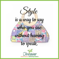 Style is a way to say who you are without having to speak. — Rachel Zoe  #fricaine #quoteoftheday #qotd #mondaymotivation #fashion #style #exotic #handbags #purses #wallets #clutches #trends #fashion #shopnow #women #bag #beautiful #classy #chic #exotichandbags #exoticbags #trendy #flagship #embroidered #microfiberleather #microfiber #exoticfabrics