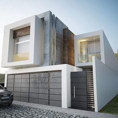 FACHADA PRINCIPAL: Casas de estilo minimalista por 9.15 arquitectos