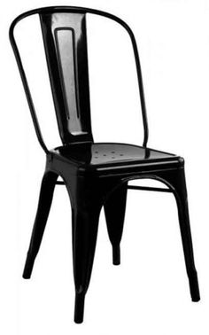 Black Tolix Style Chair. Find more colours at the best price online! www.antiquesdirect.ca
