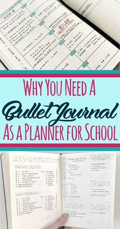 Bullet journal for school- 13 reasons a student should use a bujo for a planner. - Bullet journal İdeas in 2019 Bullet Journal Student, Bullet Journal How To Start A, Bullet Journal Ideas Pages, Bullet Journal Spread, Bullet Journal Layout, Bullet Journal Inspiration, Journal Pages, Bullet Journals, Bullet Journal Ideas For Students