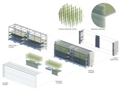 vertical harvest urban farm by e/ye design under construction