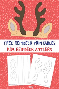 Kids Crafts: Reindeer DIY Antlers Headband Printable Learn how make these cute reindeer craft for kids with our simple DIY tutorial and free reindeer printables. This is a fun kids activity to do in the classroom or kindergarten too! Christmas Crafts For Kids To Make, Preschool Christmas, Christmas Activities, Diy Crafts For Kids, Kids Christmas, Holiday Crafts, Xmas, Antler Crafts, Fun Arts And Crafts