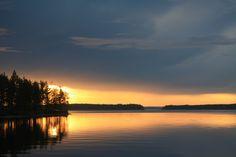 Sunset at lake Koitere, Ilomantsi, Eastern Finland.