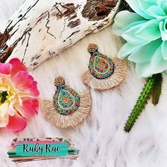 southwestern western fashion feather charms gypsy cowgirl Boho desert vibes dog lover Paw Print Dreamcatcher two toned Earrings