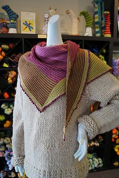 Ravelry: Biscotte Paintbox Shawl pattern by Louise Robert