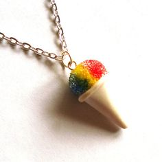 Hey, I found this really awesome Etsy listing at https://www.etsy.com/listing/176887274/rainbow-snow-cone-necklace-carnival-snow