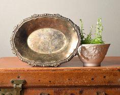 Little Vintage Silver Plated Trinket Dish by PattyMoraVintage