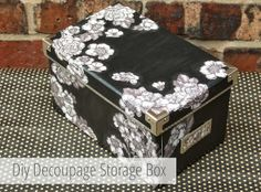 Saw one for almost a hundred dollars...I know, I can made a bigger, prettier one for under $30...More time than money...Diy Decoupage Storage Boxes.