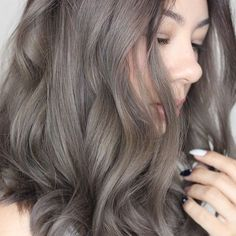 light grey/brown hair color More
