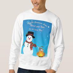 Simple Snowman Says Roast Your Nuts Sweatshirt