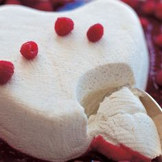 Coeur a La Creme With Raspberries - Barefoot Contessa