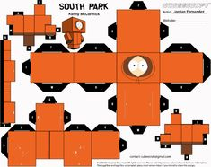 Blog Paper Toy papertoys South Park Kenny template preview Papertoys South Park (x4)