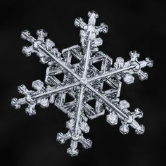 Don Komarechka posted a photo:  This snowflake stands out both in terms of symmetry and strength, a rare type of snowflake that I have only seen a handful of times. View large!  Symmetry in larger snowflakes is uncommon, because as you spread farther away from the center you are more likely to encounter very slightly shifts in temperature and humidity from one tip to another, resulting in shifts in growth characteristics from more branch to another. There is nothing that ties the growth of…