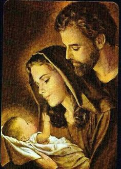 The Holy Family - Jesus Mary & Joseph Pray for Us! Religious Pictures, Jesus Pictures, Holy Family Pictures, Blessed Mother Mary, Blessed Virgin Mary, Catholic Art, Religious Art, Mama Mary, Mary And Jesus