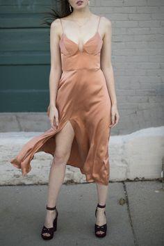 Zimmermann - Ochre Sueded Bralette Dress