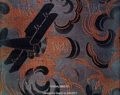 Biplane furnishing fabric, by Bianchini Ferier. France, mid-20th century. EDITORIAL USE ONLY