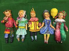 Купить или заказать Набор из 5-ти елочных игрушек Костюмированный Бал в интернет магазине на Ярмарке Мастеров. С доставкой по России и СНГ. Материалы: ватное папье маше, моделинг каст. Размер: 15 см