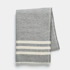 Trapper Gray Wool Throw Blanket | Unison