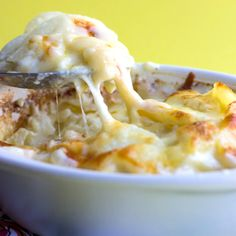 Could there be a better way to serve anything than than covered with a creamy sauce and cheese? This recipe for Cheesy Scalloped Potatoes is comfort food at it's finest!