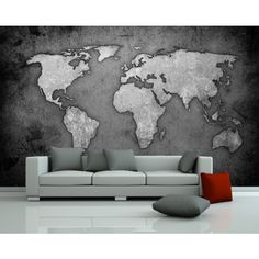 Foto behang Wereldkaart