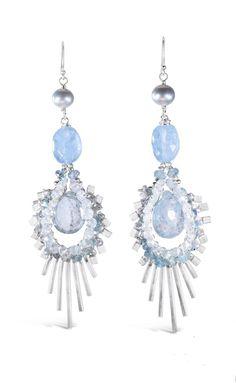 Andrea Li Aquamarine Statement Earrings Statement Earrings, Drop Earrings, Aquamarines, Jewelry, Fashion, Moda, Jewlery, Jewerly, Fashion Styles