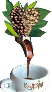 Cannabissimo Coffee. Innovative Italian ground coffee with hemp seeds.