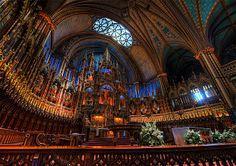 Only word can describe the Notre-Dame Basilica...Incredible! Cheesy but true. #Notre-DameBasilica #Quebec #Montreal #Canada