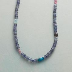 TWILIGHT REVERY NECKLACE with iolite, pink sapphire, apatite, aquamarine, and pink quartz