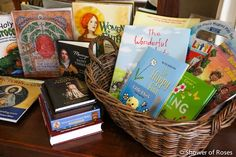Baskets of Books for Easter {and a Giveaway!}