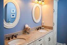The Tamassee, plan 333. Master bath with double vanities! http://www.dongardner.com/plan_details.aspx?pid=280. #Double #Vanities #MasterBath