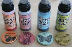 A different way to use distress inks… - One Lucky Day: A nod to Elizabeth