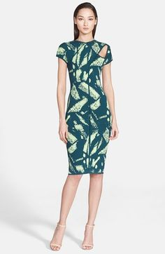 Versace Collection Abstract Print Cutout Dress available at #Nordstrom