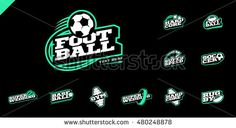 Retro style sport logo set. Soccer, Baseball, rugby, football, gym emblem and…