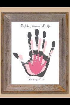 Handprint craft - Baby Gaga