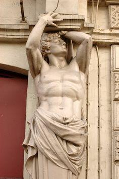 Théâtre de la Porte Saint Martin. Jacques Chevalier. Paris Sculpture Ornementale, Sculpture Romaine, Anatomy Sculpture, Roman Sculpture, Ancient Greek Sculpture, Ancient Art, Architectural Sculpture, Roman Art, Greek Art