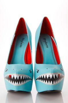 Styluxe Deadly Shark Pumps @ Cicihot Heel Shoes online store sales:Stiletto Heel Shoes,High Heel Pumps,Womens High Heel Shoes,Prom Shoes,Summer Shoes,Spring Shoes,Spool Heel,Womens Dress Shoes,Prom Heels,Prom Pumps,High Heel Sandals