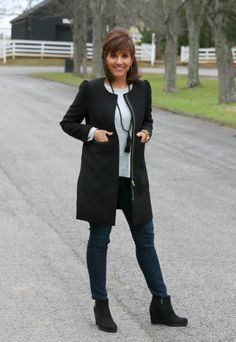 I love this puffy sleeve coat from H&M. Perfect for mild winter weather!