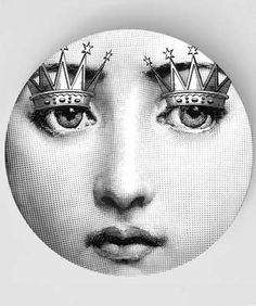 Royals Original Designs with a Fornasetti Theme by TheMadPlatters Service Assiette, Piero Fornasetti, Italian Painters, Illustrations, Plates, Black And White, The Originals, Decoration, Prints
