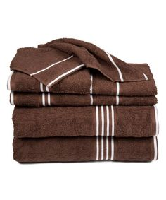 Chocolate Rio Egyptian Cotton Towel Set #zulily #zulilyfinds