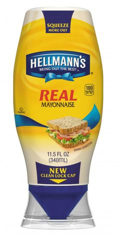 Hellman's new mayo bottle. Very cool. #convenience
