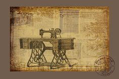 Loove old sewing machine images!