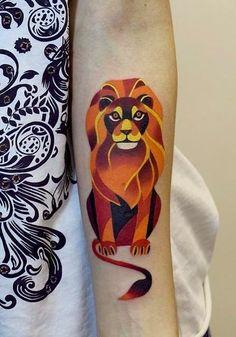 "St. Petersburg-based Instagrammer ""Sasha Unisex"" creates colorful and geometric ink tattoos."