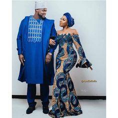 TribeOfAfrik shared a new photo on Etsy Style Inspiration: Ankar… at Diyanu Latest African Fashion Dresses, African Print Dresses, African Print Fashion, African Wear, African Attire, African Dress, African Style, African Beauty, Couples African Outfits