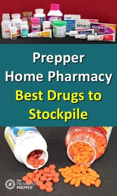 What are the best medications to include in a well-stocked prepper home pharmacy? The best drugs to stock in your prepper medicine cabinet include a combination of over-the-counter and prescription meds. The Best Ideas also for Emergency Preparedness Kit, Emergency Preparation, Survival Prepping, Survival Skills, Survival Gear, Wilderness Survival, Survival Shelter, Urban Survival, Outdoor Survival