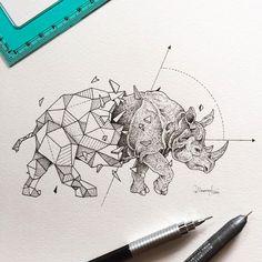 Kerby Rosanes est un superbe illustrateur de talent basé à Manille, capitale des Philippines. Ce qu'il aime par dessus tout dans l'illustration c'est la sensation de ses crayons sur une feuille de papier. Il vient tout juste de terminer une nouvelle série d'illustrations qu'il a baptisé Geometric Beasts, il s'agit