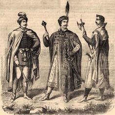 Węgierski, szlachecki ubiór XVI w.