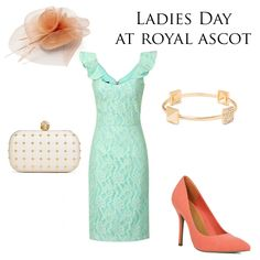 Ladies Day Outfit For Royal Ascot  Hybrid Brooklyn Lace dress Mint £110