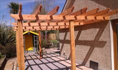 Douglas fir pergola Timber Gates, Douglas Fir, Pergola, Outdoor Structures, Wood Gates, Outdoor Pergola, Arbors, Pergolas
