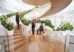 This Spiral Staircase Has Zones For Relaxation And Creative Thinking Paul Cocksedge has recently completed the Living Staircase a sculptural centrepiece in the Ampersand Building in London The project description nbsp hellip Staircase Architecture, Stairs And Staircase, Wooden Staircases, Modern Staircase, Staircase Design, Stairways, Modern Architecture, Spiral Staircases, Interior Garden